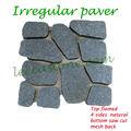 granit gris foncéirrégulière des briques de pavage