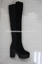 tpr fashional de plataforma alta botas de suela