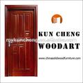 Baixo preço da madeira portas/sólidos de madeira de madeira da porta de entrada da folha/china fornecedor