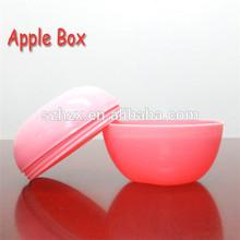 plástico forma de manzana de frutas dulces cajas de almacenamiento