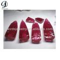 Sintético 3# rough ruby pedras preciosas em bruto lapidado material, cz pedras preciosas em bruto