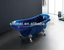 cuarto de bañoreal de lujo bañera de acrílico interior tina de agua caliente 1 persona tina de agua caliente azul