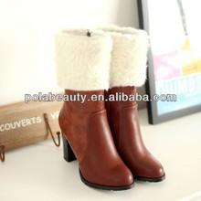 de alta del talón de goma botas botas de media caña cp6511 china
