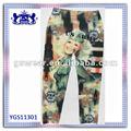 Ejército chica impresa medias/pantalones
