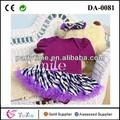 Baby girl vestidos de cumpleaños de bebé mameluco vestido de cebra- raya falda tutu
