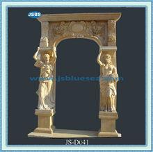 talladas a mano decorativos baratos frente moderno diseño de la puerta