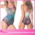 venta al por mayor sexy galaxia del arco iris de baño hermoso traje de niña de trajes de baño