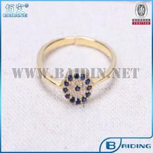 aaa cz piedra de diamante anillo de plata de ley 925 de turco mal de ojo