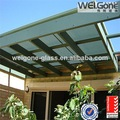 fancy telhado varanda marquise de vidro design