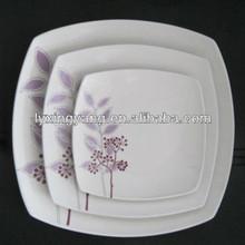 porcelana prato quadrado, prato de cerâmica, prato de jantar