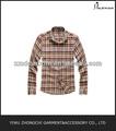 Trabalho camisa de flanela 100% algodão