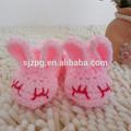 venta al por mayor fabricantes de ganchillo lindo conejo animal zapatos de bebé