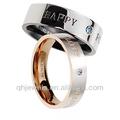moda de acero inoxidable anillo de oro de los diseños para niños y girls2014