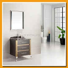 Floor mounted marble counter-top 304 SS bathroom cabinet SP-6207