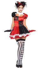 linda niña vestido de payaso de disfraces de halloween