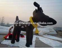 La decoración de navidad inflable ciervos/inflable ciervos de navidad con precio de fábrica