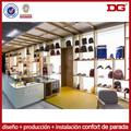 Ferias comerciales madera tienda al por menor del estante de exhibición del bolso del mdf
