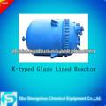tipo k 50-12500l vidrio forrado reactor con camisa para la industria química