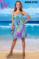 ANGELA-8183 bella dama vestido de corto, señora mini vestido