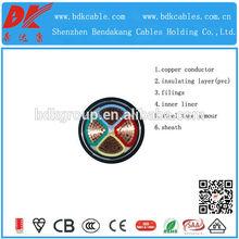 Doble cinta de acero blindado cable de alimentación cable 0.6/1kv 600 1000v pvc cable de alimentación
