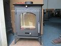 Colled- rollo de placa de acero de la quema de madera moderna estufa( dl007)