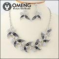 Grandes perles de cristal de mode africaine dames. longue chaîne de bijoux de mariage ensemble