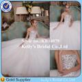 2015 más nuevo estilo de cristal de lujo sin tirantes con cuentas un- línea extraíble falda elegante de la boda vestidos de aust