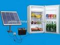 energía solar solar del congelador del refrigerador