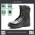 Loveslf superior- cuero de grado superior negro botas militares/en china