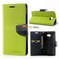 Mercurio Goospery Fancy Diario Wallet funda de cuero para HTC Butterfly S 901E X901e - Azul / Verde