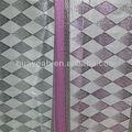 patrón de tartán camada de tela para cortina de telas