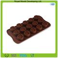 círculo de silicone em forma de chocolate / molde do bolinho