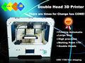 doble cabeza de código abierto replicador de 1 kg abdominales formato de impresión filamento 225 * 145 * 150 mm impresora 3D