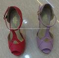 Pasos Pretty Últimas zapatos modelo vestido de las mujeres Zapatos