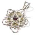 925 jóias de prata atacado natural pingentes de pedras preciosas da índia