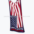 100% de coton imprimée réactive serviette de plage drapeau américain