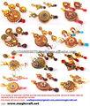 Diseñador polki Kundan colgantes conjunto bisutería-joyería india joyas pandora por mayor étnica-perla india, joyería de 1 gramo