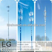 de acero de la torre de telecomunicaciones radio monopole
