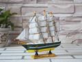 20cm antiguos tallados a mano de madera modelo catamarán de barcos de vela