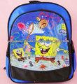 SpongeBob pacote de banda desenhada 1680D mochila menino mochila azul Escola