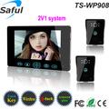 Top Saful táctil de 9 pulgadas apartamento clave 2.4GHz video de la puerta de intercomunicación teléfono cargador solar