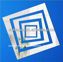 ps decorativo en forma de cuadrado de plata de color etiqueta de la pared para el regalo promocional kx-2481