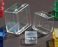 con bisagras pequeña caja de plástico transparente