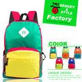 senkey sytle moda colorido bonito mochila saco dos desenhos animados as crianças da escola