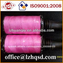 1.5mm de fluorescencia de nylon trenzado de hilo, de nylon trenzado de la cuerda