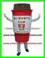 venta caliente de alta calidad de taza de la felpa adultos traje de café taza de vestuario