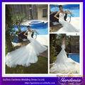 2014 nouvelle mode Beautiful White sirène dentelle corsage Kebaya mariage moderne de robe de robe de mariée en train royal