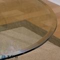 mesa de vidrio biselado