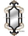 de estilo barroco de plástico de poliuretano decorativas marco del espejo