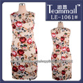 Rose vestidos de coctel sin mangas impresos